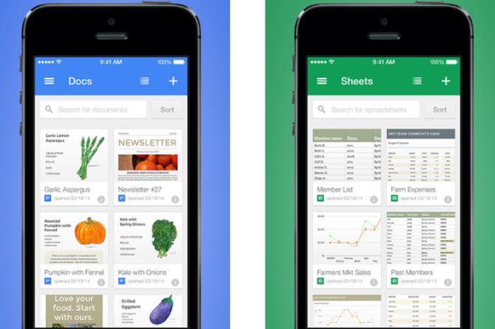 google apps docs sheets