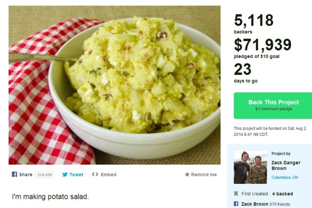 Kickstarter-salad-ensalada-miles de dólares-Zack
