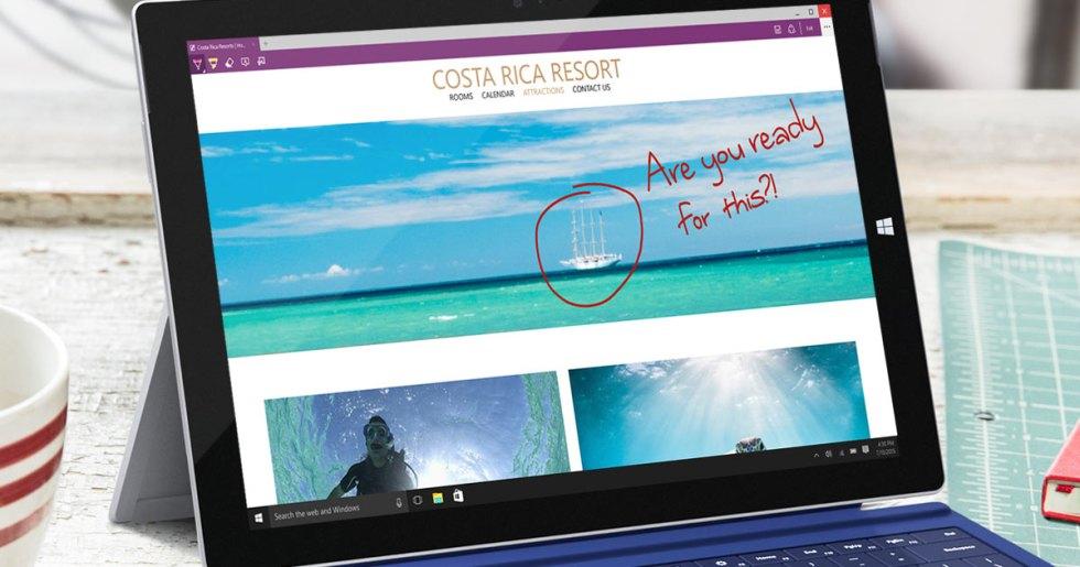 Más de 20 años de códigos obsoletos de Internet Explorer fueron removidos para construir Microsoft Edge con características nuevas. Imagen: Microsoft