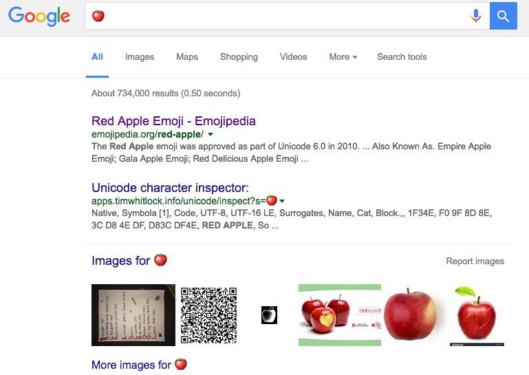 El buscador de Google ya reconoce emojis