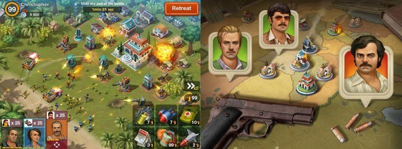 videojuego sobre Pablo Escobar ¡Narcos Cartel Wars!