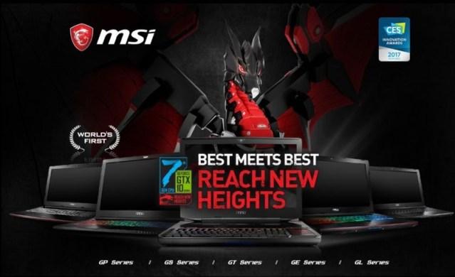 #CES 2017 Las portátiles MSI te harán un mejor Gamer vienen con 4k y más
