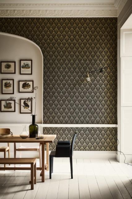 Little Greene geometrische Tapeten - Hoyer & Kast Interiors