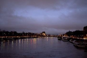 Die Seine in der Nacht