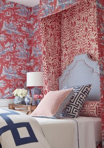 Thibaut Dynasty Cheng Toile de Jouy Tapete