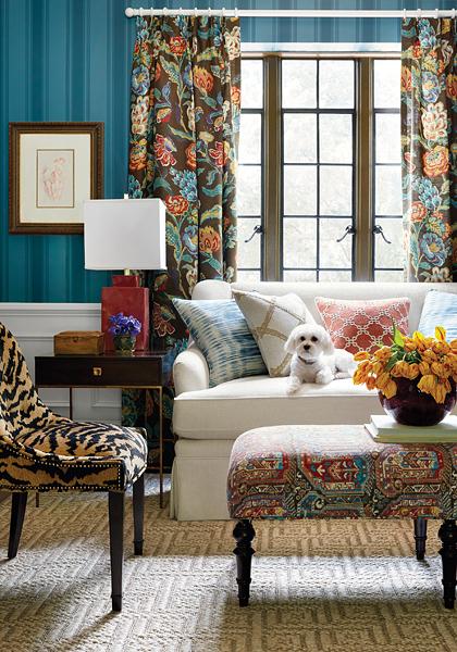 Thibaut Design leuchtende Farben und exotische Fauna - Hoyer & Kast Interiors