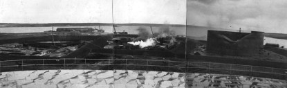 Construction of the oil tanks at Lyness 1937-38 © Orkney Library & Archive, ref. D1-1096