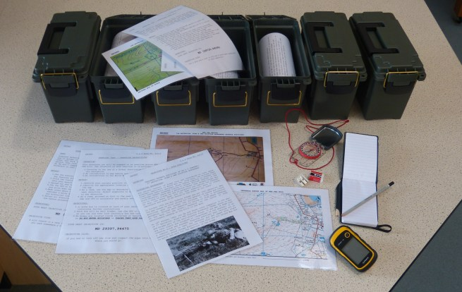 Figure 19 - Geocache Trail Boxes with Interpretation & Activity Materials