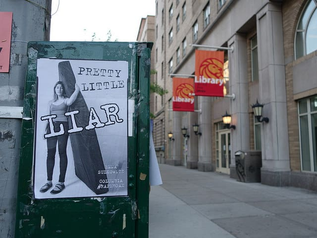 @fakerape images posted around the Columbia University campus