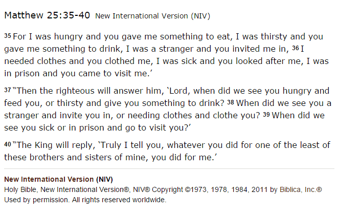 Matthew 25, amateur theologians