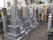 高源寺【御影石張りの通路の墓地】