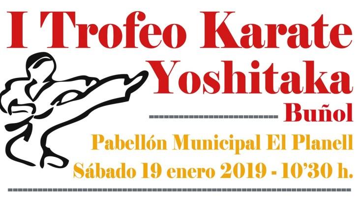 El Pabellón Municipal de Buñol acogerá el I Trofeo Kárate Yoshitaka el próximo 19 de enero