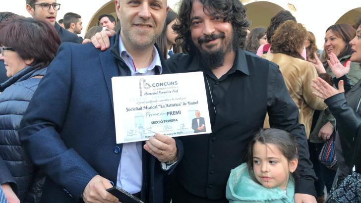 La Banda Juvenil de «La Artística» de Buñol se lleva el primer premio del concurso de bandas «Memorial Francisco Fort»