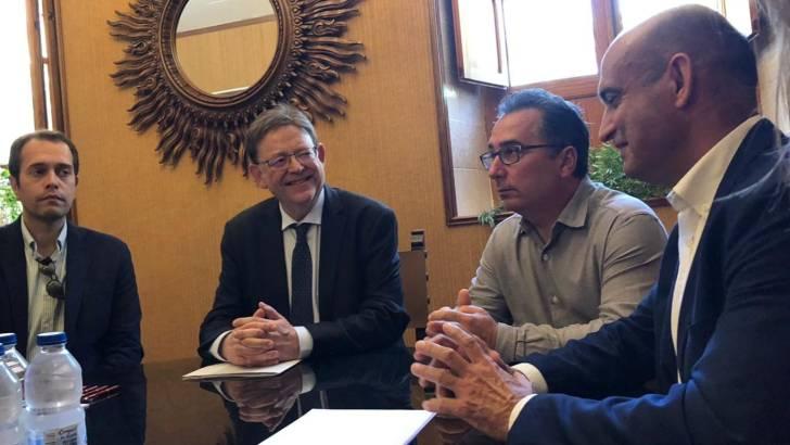 Puig visita Yátova y aboga por proyectos que sean un «motor económico» contra la despoblación