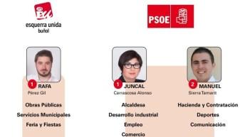 Así queda configurado el nuevo equipo de Gobierno de Buñol