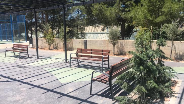 Terminan las obras del parque de calistenia y la zona de descanso en «El Planell» de Buñol