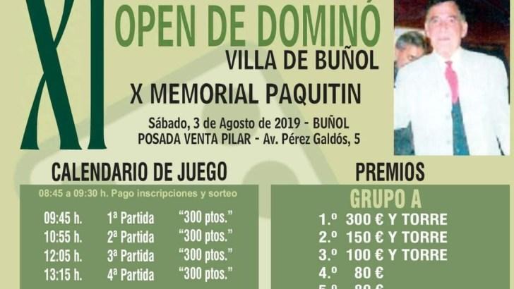 Buñol acoge este este sábado su XI Open de Dominó