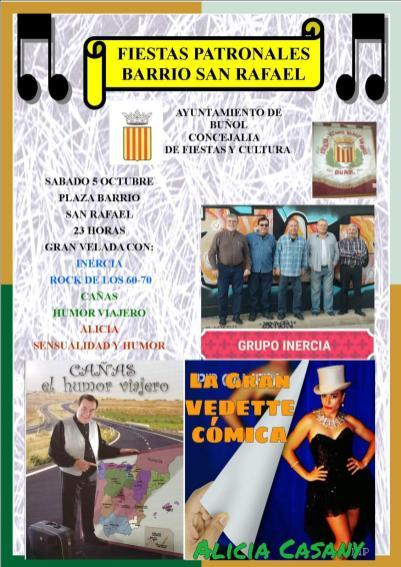 Cartel Fiestas Barrio San Rafael 4 5 6 octubre