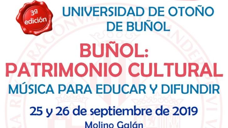 La tercera edición de la Universidad de Otoño llega a Buñol