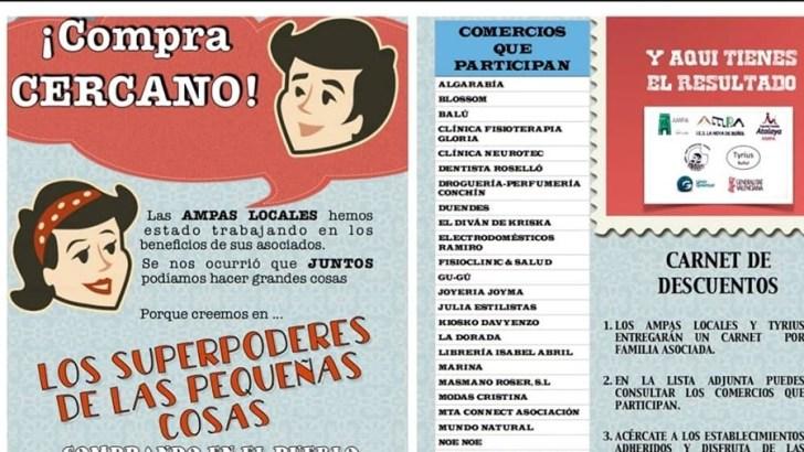Las AMPAS de Buñol lanzan una campaña para fomentar las compras en la localidad