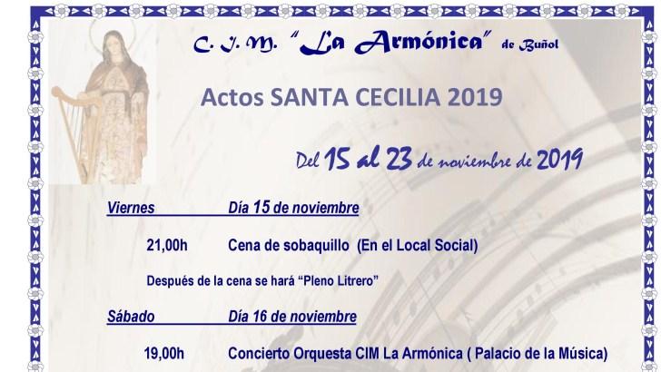 «La Armónica» de Buñol celebra este sábado su tradicional concierto de Santa Cecilia