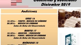 El Conservatorio de Buñol celebra sus audiciones navideñas del 16 al 21 de diciembre