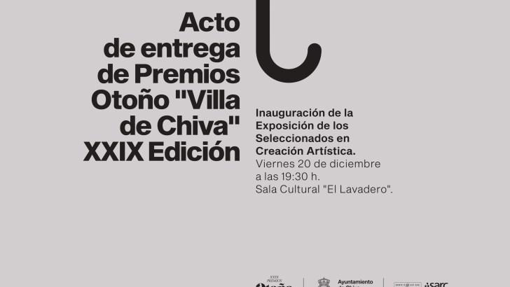 Este viernes se entregarán los Premios de Otoño «Villa de Chiva»