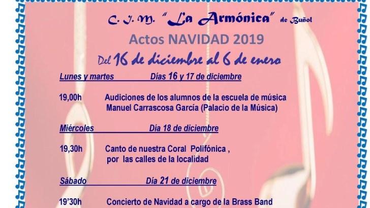 Los actos navideños del CIM «La Armónica» de Buñol
