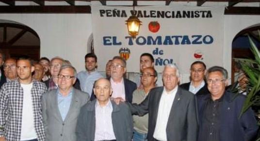 La Peña Valencianista 'El Tomatazo' celebra su 25 aniversario
