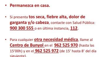 El consultorio de Alborache permanecerá cerrado temporalmente durante la crisis del COVID-19
