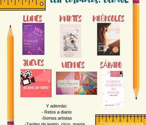 El CEIP Cervantes de Buñol programa actividades para las niñas y niños durante la cuarentena