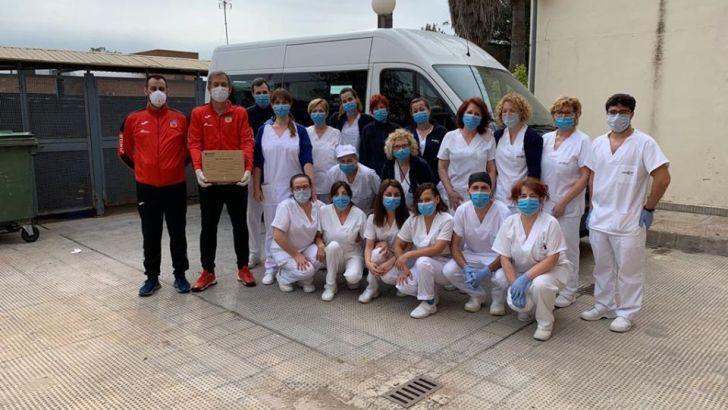 El CD Buñol dona a la Residencia material para la lucha contra el COVID-19