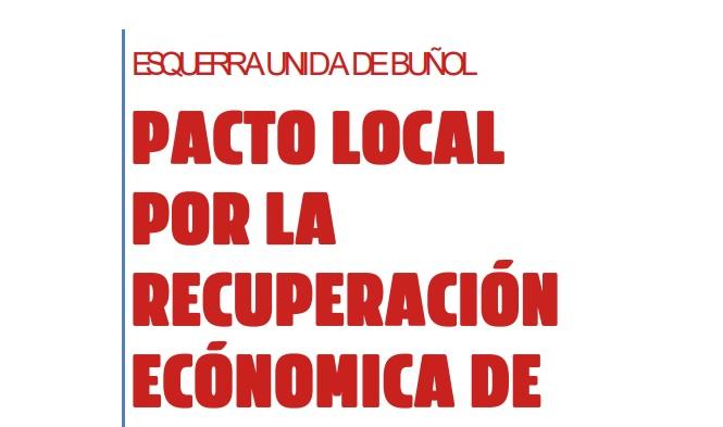 EU presenta medidas para un Pacto Local por la recuperación económica de la clase trabajadora, pymes y autónomos de Buñol