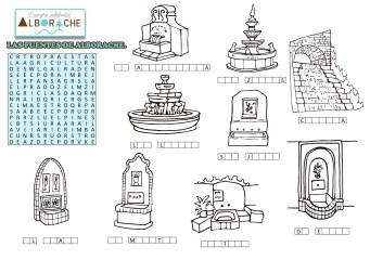 Ayto Alborache manteles ilustrados para colorear-Turismo