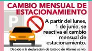 A partir del lunes se reactiva el cambio mensual de estacionamiento en Buñol