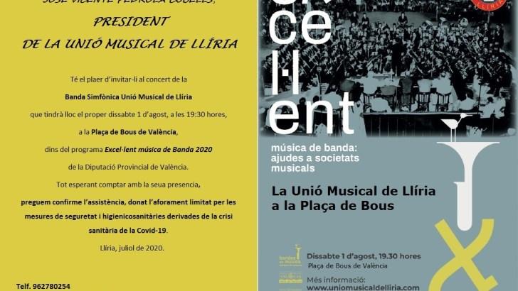 "Vuelve la música de banda a la Plaza de Toros de Valencia con ""La Unió"" Musical de Llíria"