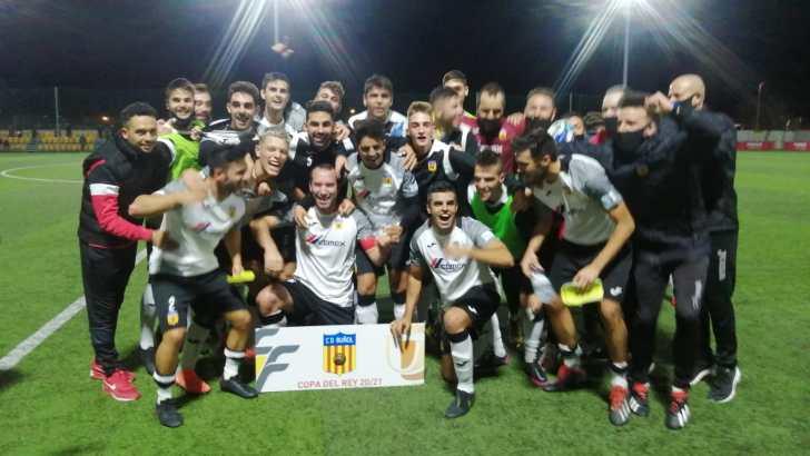 CD Buñol, el equipo de Preferente que ha llegado más lejos en una ronda previa de la Copa del Rey