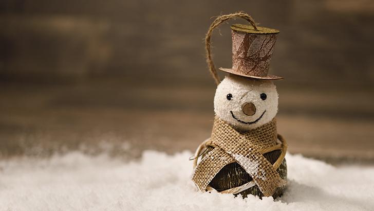 Botones, el muñeco de nieve