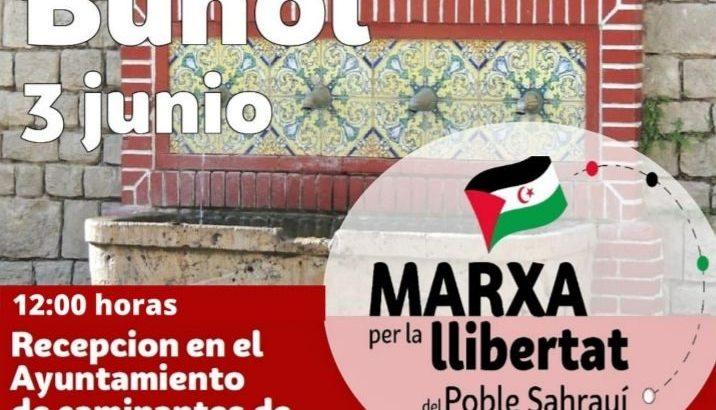 La Marcha por la Libertad del Pueblo Saharaui llega a Buñol