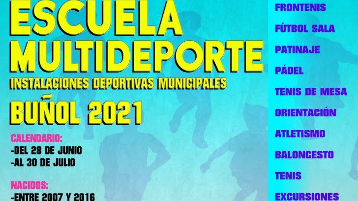 Comienza este lunes la Escuela Multideporte en Buñol