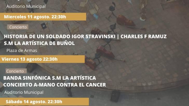 Cultura a-Mano continúa este miércoles en Buñol con un gran concierto