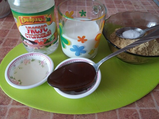Ingredientes para fazer mostarda no leite