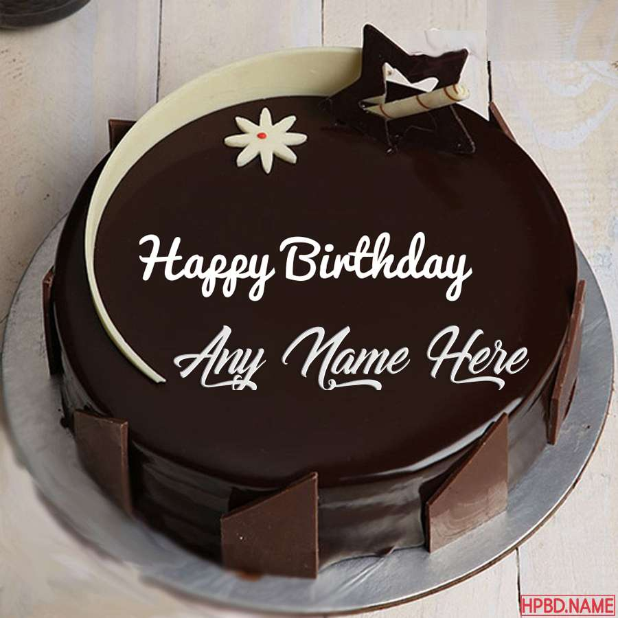 Dark Chocolate Birthday Cake By Name Editing