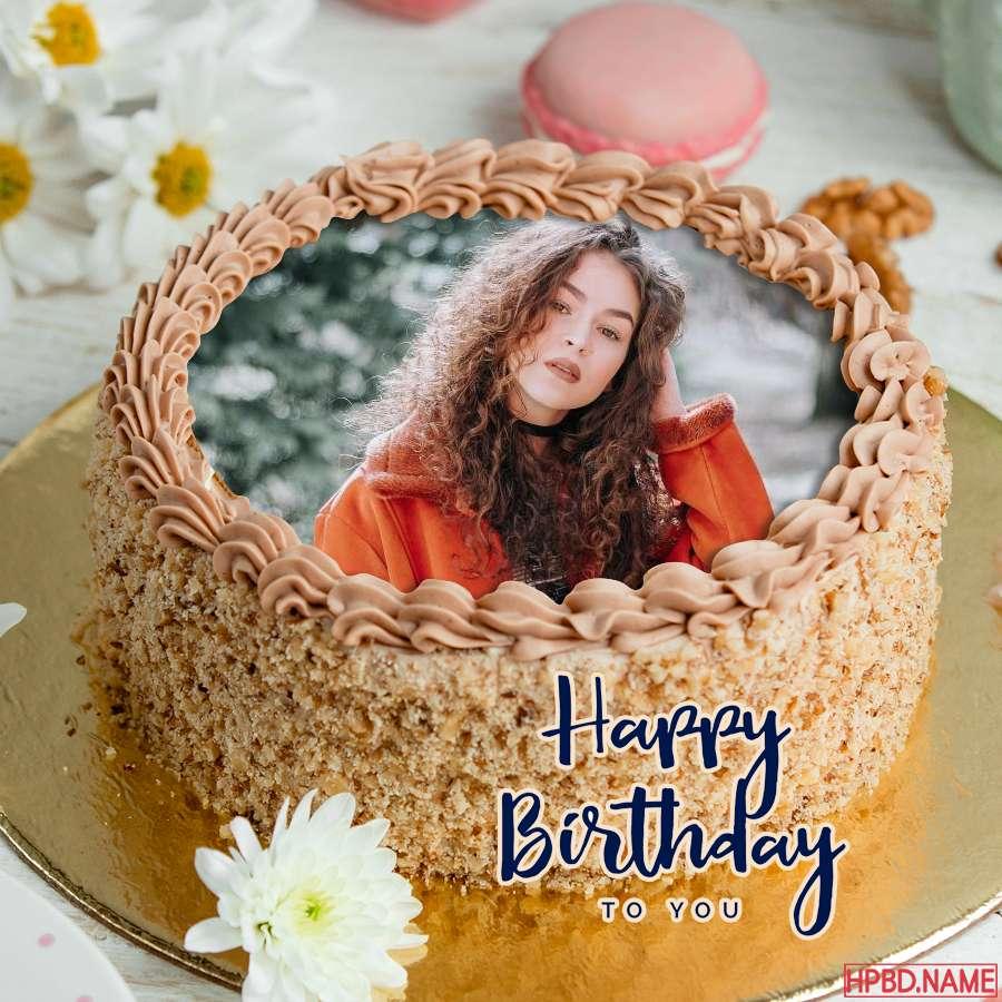 Happy Pastel Birthday Cake Photo Frame Edit