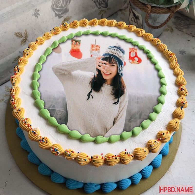 Happy Birthday Cake With Photo Edit