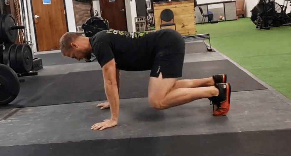 the beast crawl helps create stability in the bottom of the squat