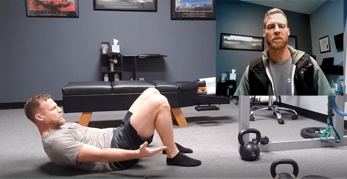 Hollow body breathing works to build core endurance to keep the spine strong and safe