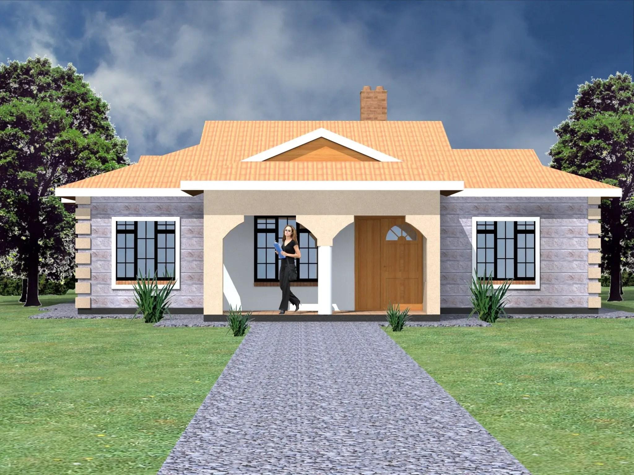 Simple Three Bedroom House Designs Novocom Top