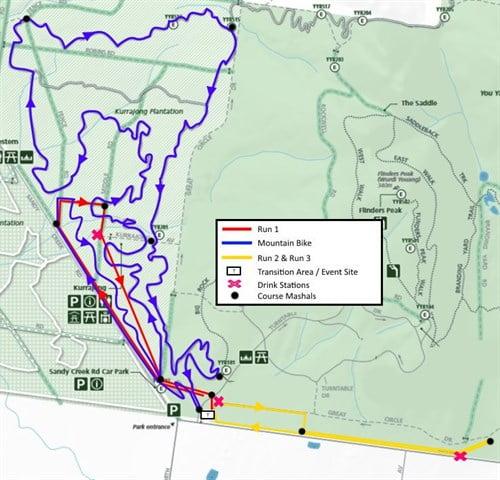 Dirty Duathlon Series 2016 - Race 1 Course Map
