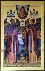 Свв. блгвв. кн. Петр и кнг. Феврония Муромские с мощами святых